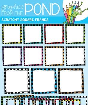 Scratchy Square Frames