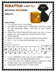HOLIDAY MATH and LITERACY CENTER Halloween SCRATTLE Differentiated