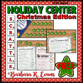 HOLIDAY MATH and LITERACY CENTER Christmas SCRATTLE Differentiated