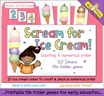 Scream For Ice Cream File Folder Game Download
