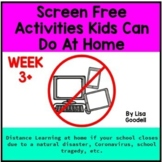 Screen Free Lesson Plans for School Closures WEEK 3+ #dist