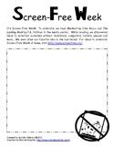 Screen Free Week Worksheet {FREE}