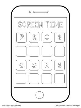 Screen Time: Close Reading Article, Opinion Writing Paper, & iPhone Craft