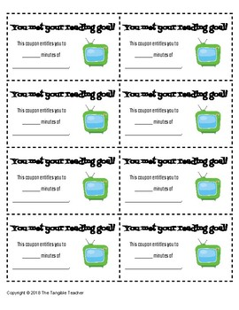 Reward Coupons--Screen Time Prizes