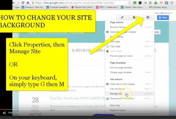 ScreenCast Video for Changing Background Images in Google Sites