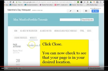 ScreenCast Video for Editing Google Sites Layout
