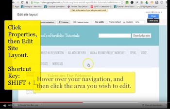 FREEBIE! ScreenCast Video for Editing Google Sites Layout