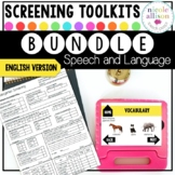 Screening Toolkit BUNDLE {Speech and Language} with No Print Option