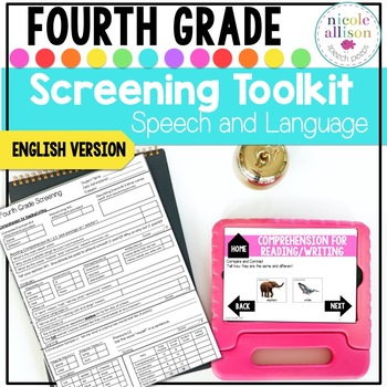 Screening Toolkit for Fourth Grade {Speech and Language}