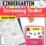 Screening Toolkit for Kindergarten {Speech and Language} English Version