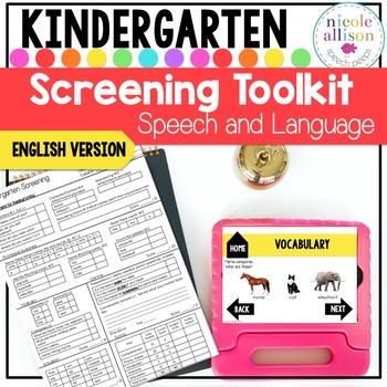 Screening Toolkit for Kindergarten {Speech and Language}