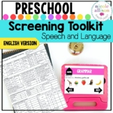 Screening Toolkit for Preschool {Speech and Language}