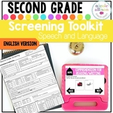 Screening Toolkit for Second Grade {Speech and Language}