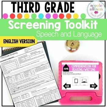 Screening Toolkit for Third Grade {Speech and Language}
