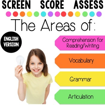 Screening Toolkit for Third Grade {Speech and Language} with No Print Option