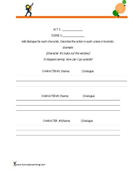 Screenplay Organizer (Practice writing dialogue)