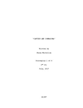 Screenplay 1 | New France and British North America | Cartier and Donnacona