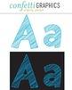 Alphabet Scribble Clip Art Blue 74 Upper & Lower Case Lett