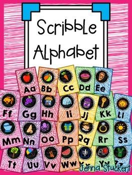 Scribble Alphabet (Classroom Alphabet Posters)