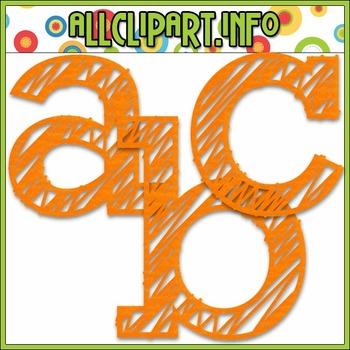 Scribble Alphas (Orange)