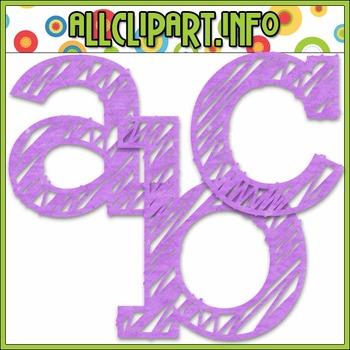 Scribble Alphas (Purple)