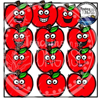 Scribble Apples Clipart (School Clipart)