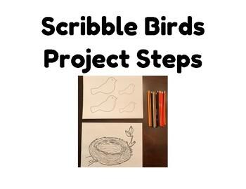 Scribble Birds in a Nest