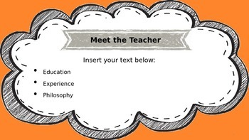 Scribble Border Welcome PowerPoint