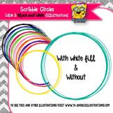 Scribble Circle Frames Clip Art