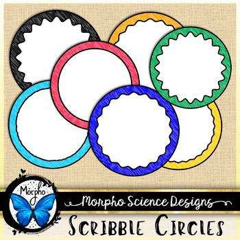 Scribble Circle Frames - Free Download