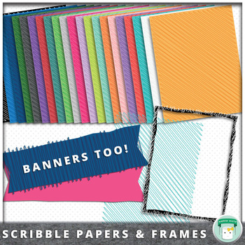Scribble Clip Art Backgrounds, Frames, and Banners