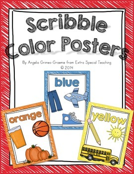 Scribble Color Word Posters