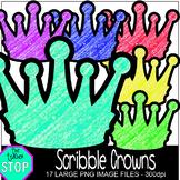 Scribble Crowns Clip Art {The Teacher Stop}