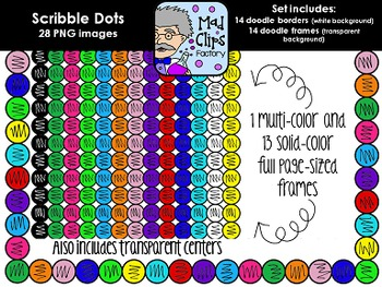 Scribble Dot Frames {Colorful Set}