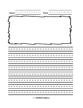 Scribble Frame Lined and Primary Lined Journal Papers