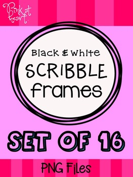 Scribble Frames Black and White FREEBIE