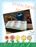 Scribble Garden & Flower Themed Alphabet Classroom Decor