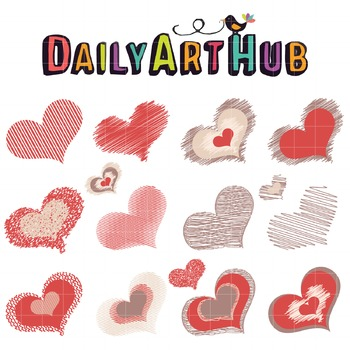 Scribble HeART Clip Art - Great for Art Class Projects!
