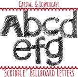 Scribble Letters Upper & Lower Case Letters
