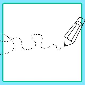 Scribble Lines with Pencil Tracing Lines for Fine Motor or Pencil Control