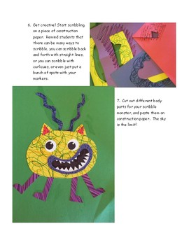 Scribble Monster (making mistakes is fun: a writing and art project)