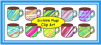 Scribble Mugs Clip Art