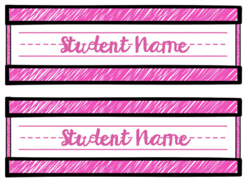 Scribble Name Plates - Colorful