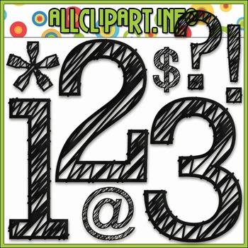 Scribble Numbers & Symbols (Black)
