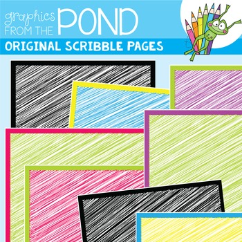 Scribble Pages - Digital Paper Backgrounds for Teaching Files