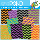 Scribble Paper {Halloween Chevron}