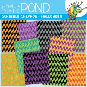 Scribble Paper {Halloween Chevron}