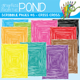 Scribble Paper {Scribble Pages Set 6: Criss Cross}