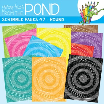 Scribble Paper {Scribble Pages Set 7: Round}