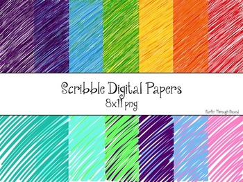 Scribble Papers Digital Backgrounds